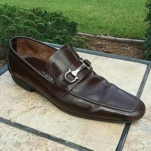 Salvatore Ferragamo Men's Benford Leather Shoes